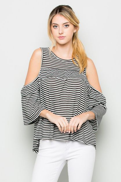 RUFFLE OFF SHOULDER  - orangeshine.com