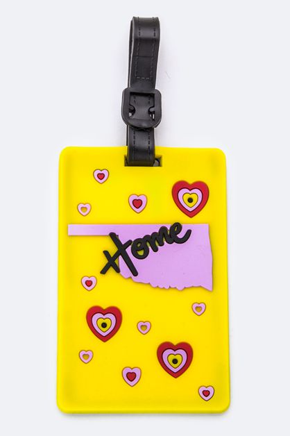 OKLAHOMA Jelly Luggage Tag - orangeshine.com