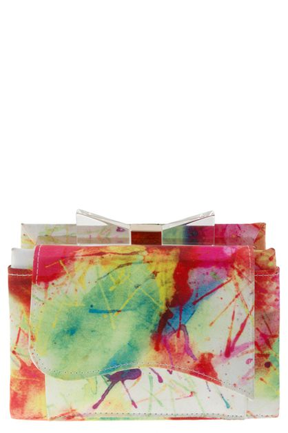 WATERCOLOR PRINT BOX CLUTCH - orangeshine.com