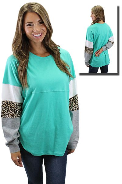 Spirit Jersey with Leopard Sleeves - orangeshine.com