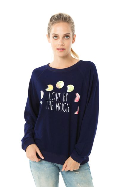 LOVE BY THE MOON SOFT SWEATSHIRT  - orangeshine.com