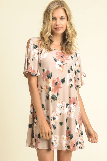 PREMIUM FLORAL TUNIC DRESS - orangeshine.com