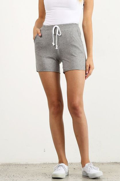 Heather Grey Short Joggers - orangeshine.com