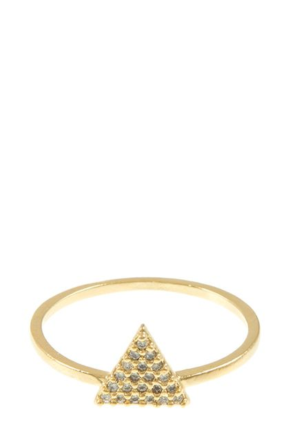 Triangle encrusted rhinestone ring - orangeshine.com