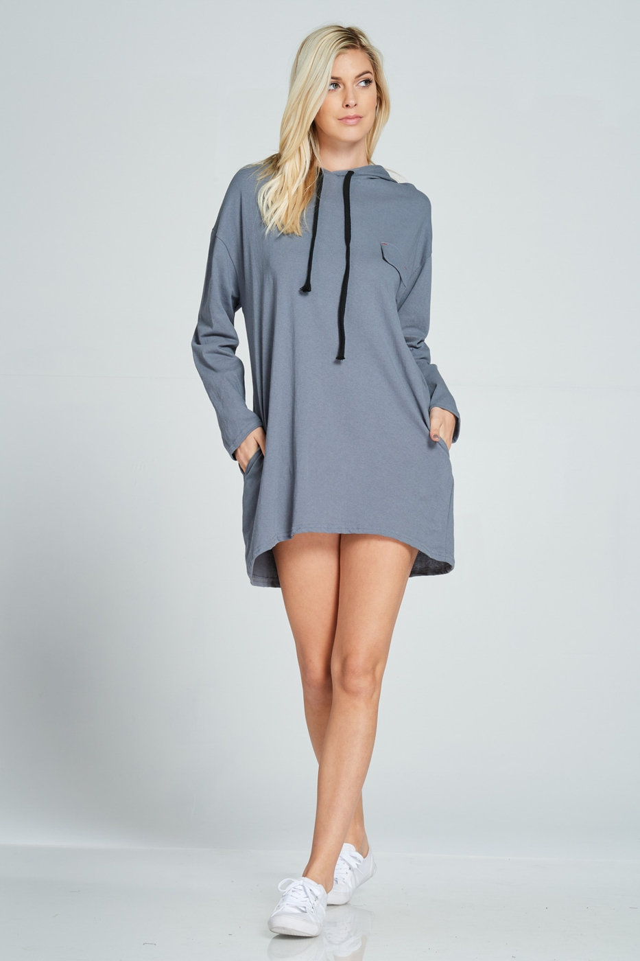 HOODIE TUNIC DRESS - orangeshine.com
