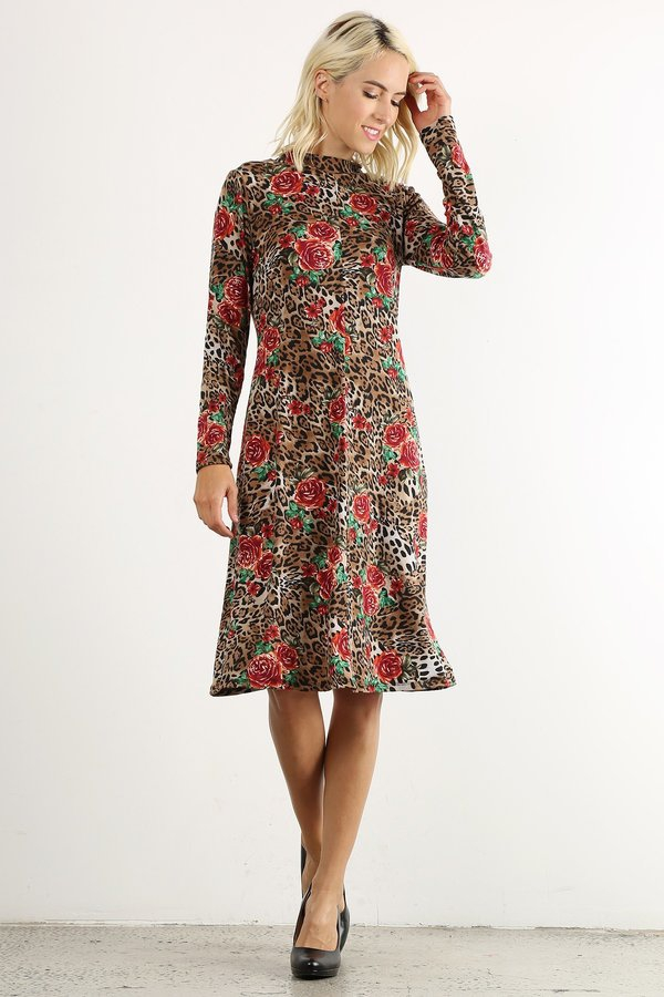 floral mid dress - orangeshine.com