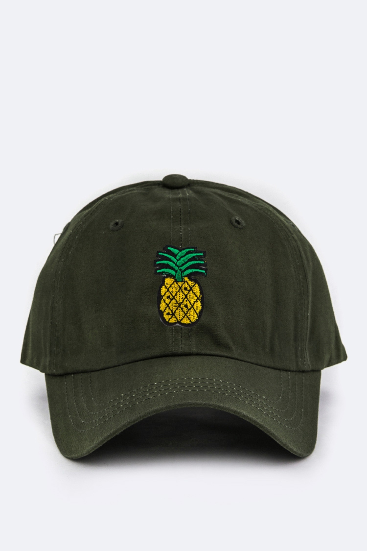 Pineapple Embroidery Patch Cap - orangeshine.com