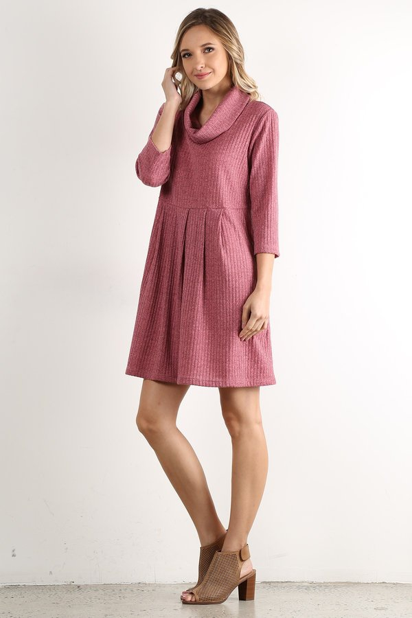 cowl neck dress - orangeshine.com
