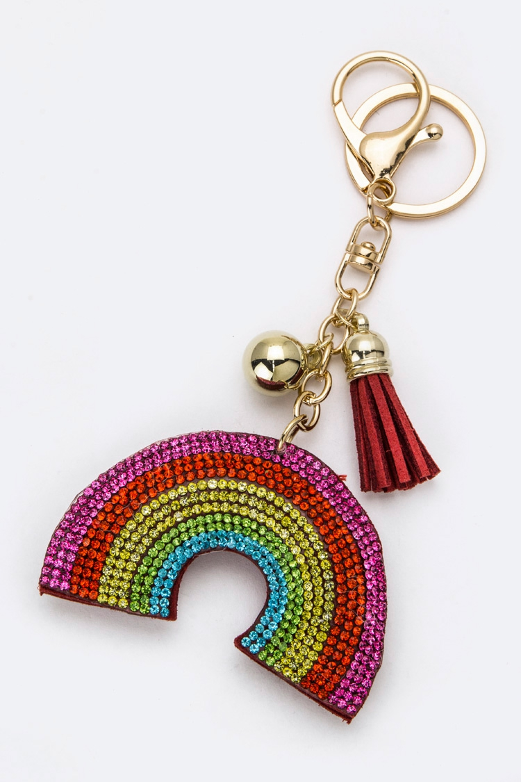 Crystal Rainbow Key Charm - orangeshine.com