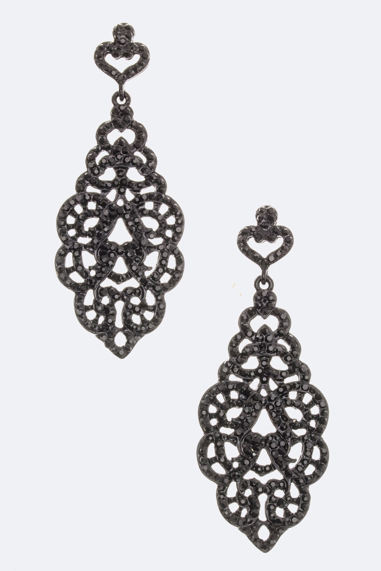 Crystal Chandelier Earrings - orangeshine.com