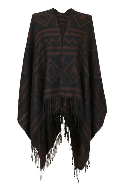 Tribal Pattern Black Cover Up Wrap - orangeshine.com