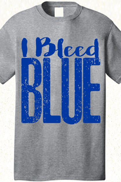 I Bleed Blue Spirit Tee - orangeshine.com