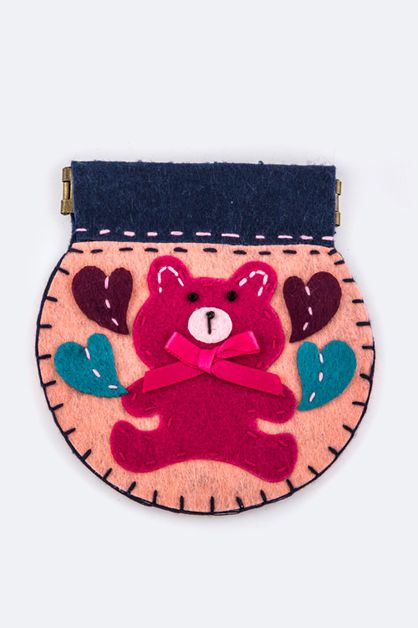 Snap Closure Comic Bear Coin Purse - orangeshine.com