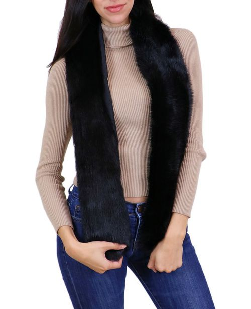 Faux Fur Fashionable Oblong Scarf - orangeshine.com