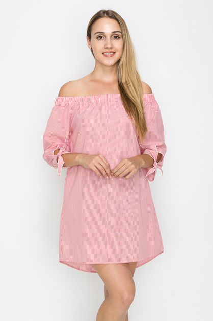 OFF SHOULDER MINI DRESS - orangeshine.com