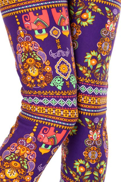 ETHNIC ELEPHANT PRINT LEGGINGS - orangeshine.com