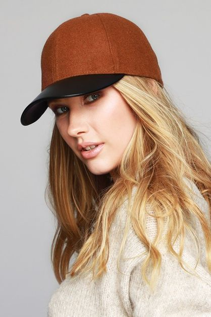 CASUAL WOOL AND FAUX BASEBALL CAP - orangeshine.com