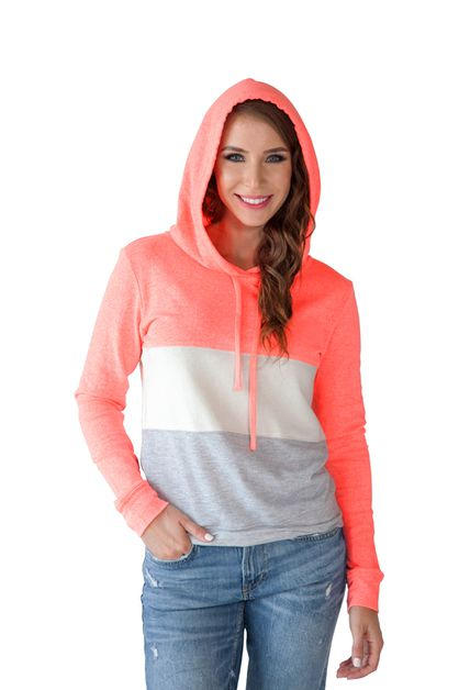 3 COLOR BLOCK SLIM-FIT HOODIE  - orangeshine.com