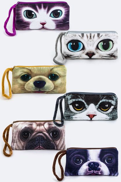 Assorted Kitty and Puppy Coin Purse - orangeshine.com