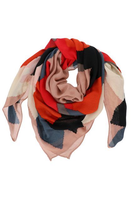 Graphic Print Square Scarf - orangeshine.com