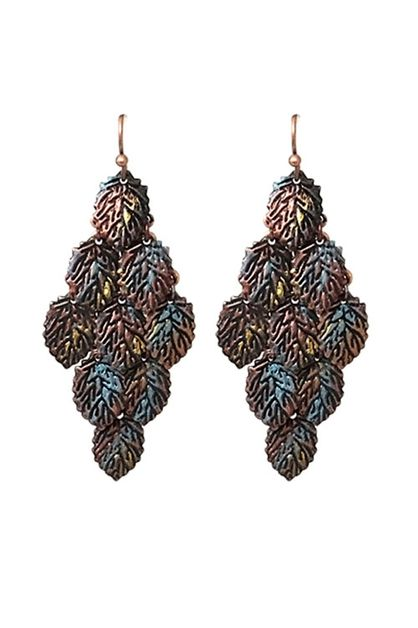 Metal Multi Left Hook Earrings  - orangeshine.com