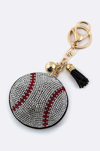 Crystal Baseball Key Charm - orangeshine.com