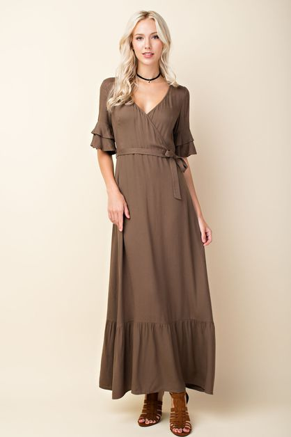 Tiered Ruffle Maxi Dress - orangeshine.com