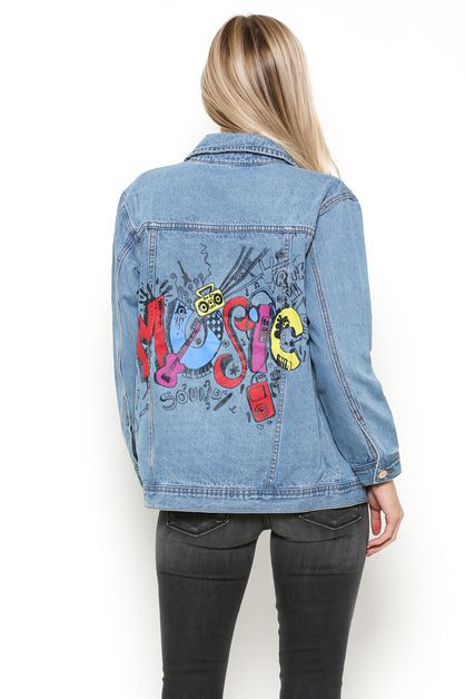 OVERSIZE DENIM JACKET PRINT - orangeshine.com