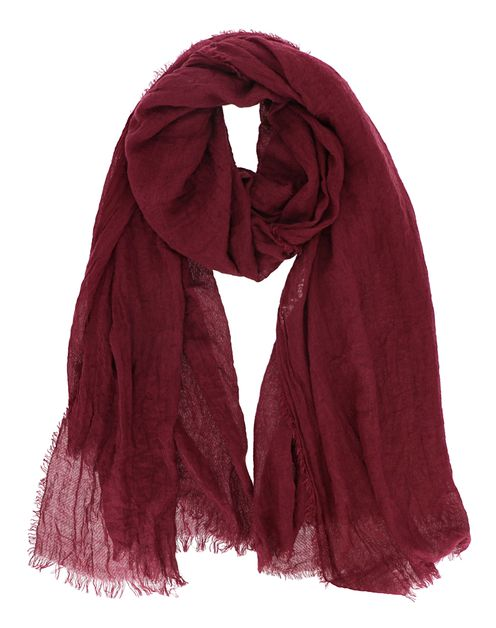Solid Fringe Oblong Fashion Scarf - orangeshine.com