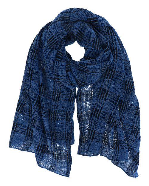 Plaid Oblong Fringe Scarf - orangeshine.com