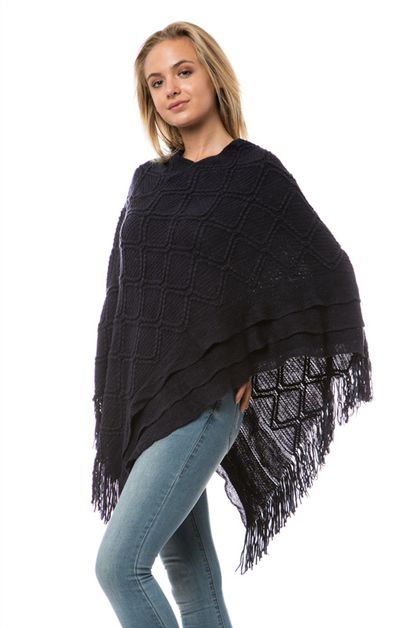 FRINGES DETAIL PONCHO - orangeshine.com