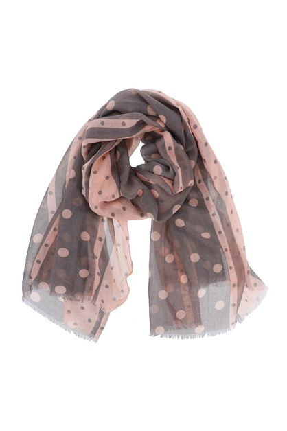 Polka Dot Stripes Oblong Scarf - orangeshine.com