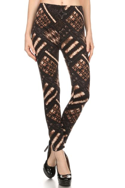 print fleece legging - orangeshine.com