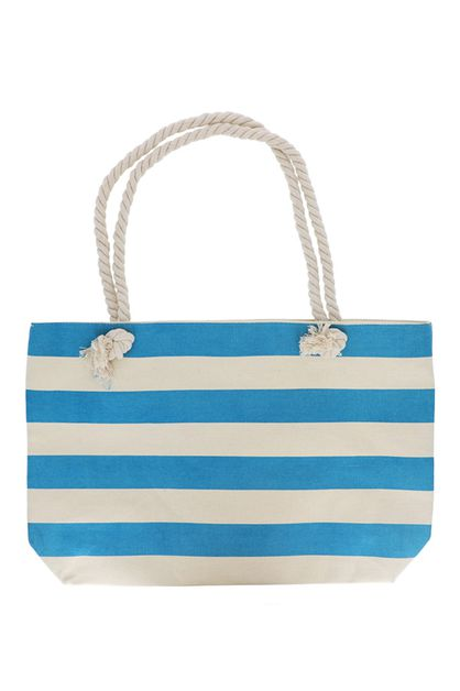 Striped Canvas Tote - orangeshine.com