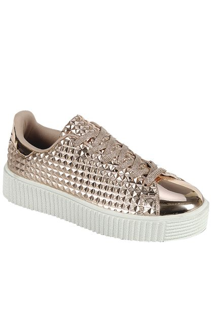 STUD ACCENT CASUAL SNEAKERS - orangeshine.com