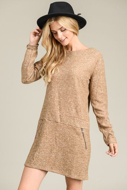 Fall Style Long Sleeve Dress - orangeshine.com