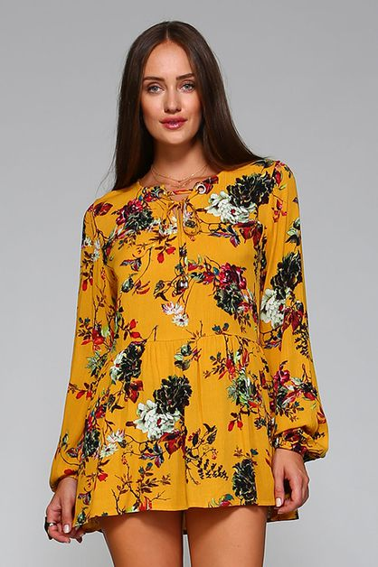 Floral Tunic Top - orangeshine.com
