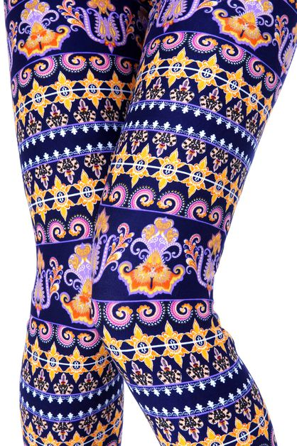 ETHNIC PRINT LEGGINGS - orangeshine.com