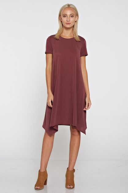 Short Sleeve Swing Dress - orangeshine.com