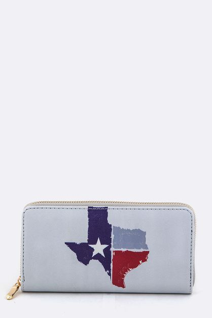 Texas Map Print Wallet - orangeshine.com