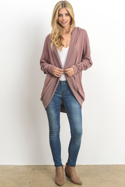Casual Hooded Cardigan  - orangeshine.com