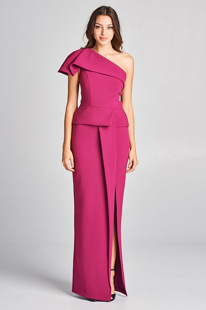 One Shoulder Cocktail Dress - orangeshine.com