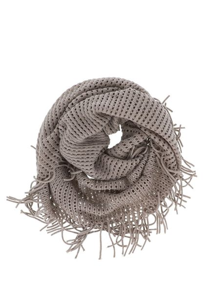Cozy Knit Infinity Scarf in Grey - orangeshine.com