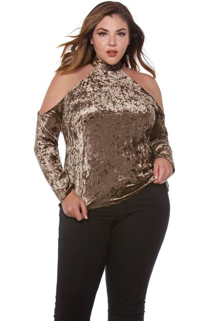 Plus Velvet Tunic Top - orangeshine.com