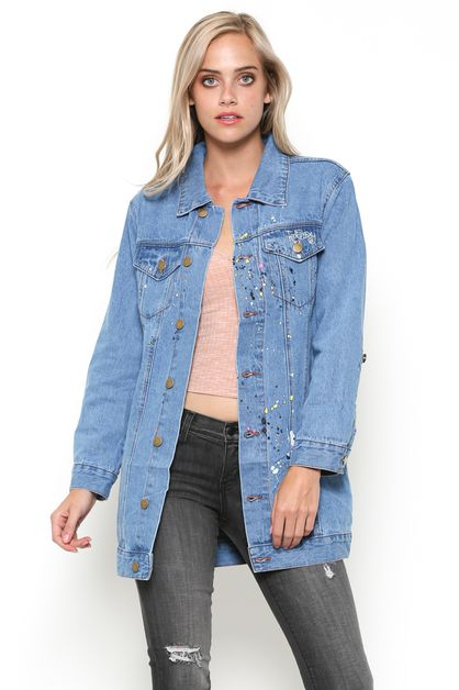 RIPPED DENIM JACKET - orangeshine.com
