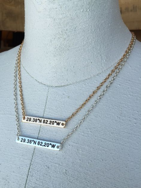 Florida Coordinates Necklace - orangeshine.com