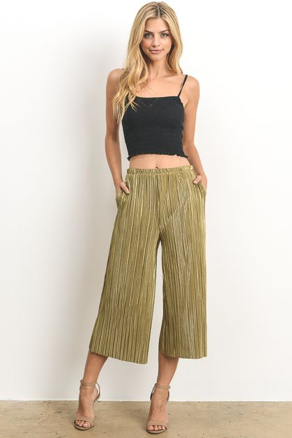 Pleated Fashion Pants  - orangeshine.com