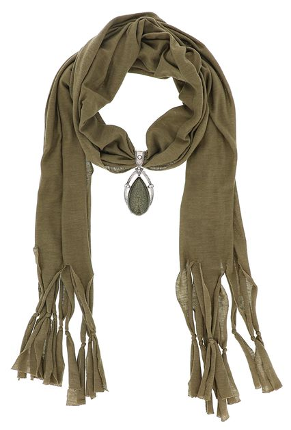 Almond Pendant Tassel Fashion Scarf - orangeshine.com