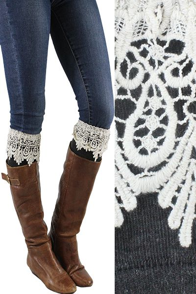 Lace Boot Cuff  - orangeshine.com