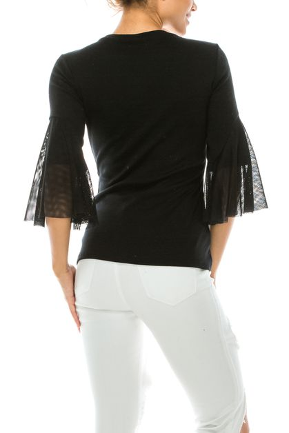 COTTON MESH CASUAL TOP  - orangeshine.com